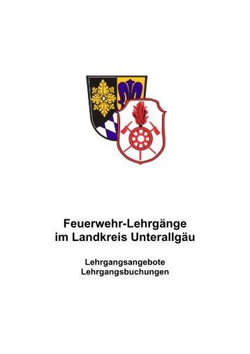 Feuerwehr-Lehrgänge im Landkreis Unterallgäu