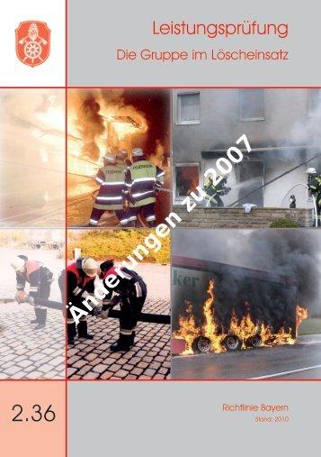 Die Gruppe im Löscheinsatz - Freiwillige Feuerwehr Schwebenried