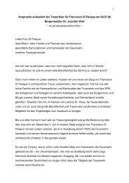 1 Ansprache anlässlich der Trauerfeier für Francesco Di Pasqua am ...