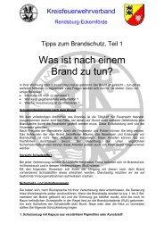 Teil 1 – Was Ist Nach Einem Brand Zu Tun - Kreisfeuerwehrverband ...