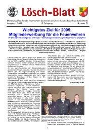 Wichtigstes Ziel für 2005 - Kreisfeuerwehrverband Rendsburg ...