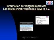 Vorstellung Mitgliedscard - KFV Regensburg