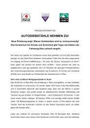 Presseaussendung: Autodiebstähle nehmen zu! - KfV