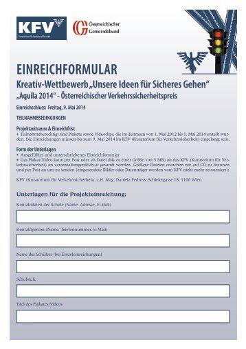 EinrEichformular - KfV