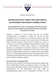 gefährliche nacht: risiko tödlicher unfälle im ortsgebiet nachts ... - KfV