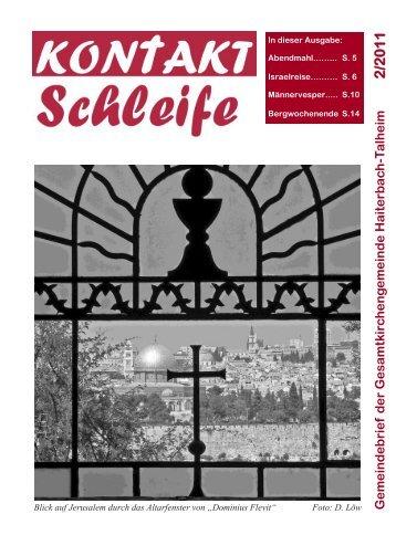 2011-02 Kontaktschleife.pdf - Kirchengemeinde Haiterbach