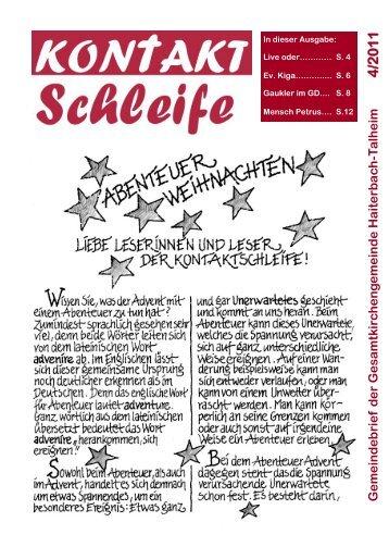 2011-04 Kontaktschleife.pdf - Kirchengemeinde Haiterbach