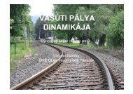 Vasúti pálya dinamikája (pdf) - BME