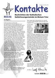 Kontakte 11 - Katholische Gehörlosenseelsorge im Bistum Trier