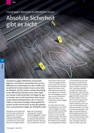 (Mitgliederzeitschrift des Deutschen Beamtenbundes), März 2013
