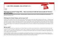 Pèlerinage de la Sainte Tunique 2012,… Nous avons besoin d'aide ...