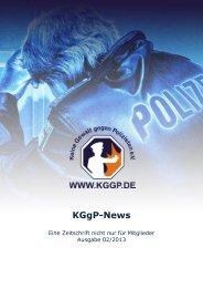 KGgP-News, Ausgabe 02/2013 - Keine Gewalt gegen Polizisten eV