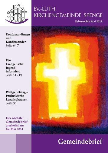 Gemeindebrief - Evangelische Kirchengemeinde Spenge