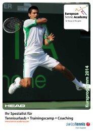 European Tennis Academy Kursprogramm