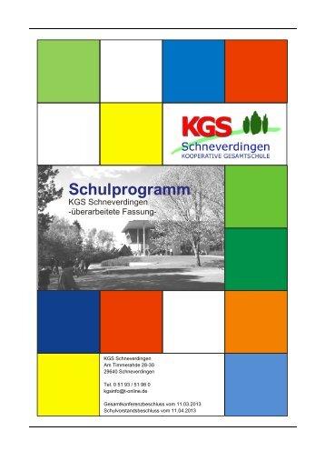 Schulprogramm 15.05.2013 - KGS Schneverdingen