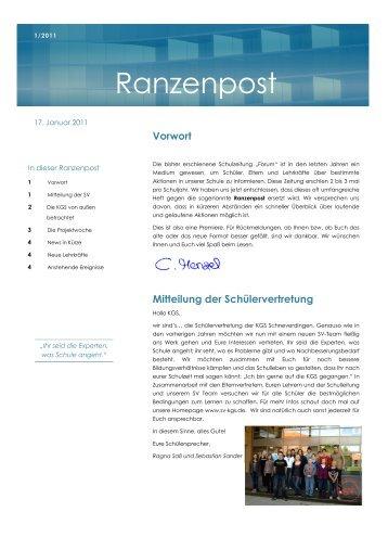Ranzenpost 1/2011 - KGS Schneverdingen