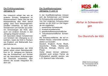 Oberstufe - KGS Schneverdingen