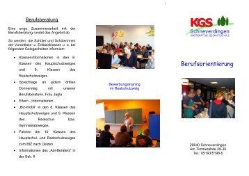 Berufsorientierung - KGS Schneverdingen