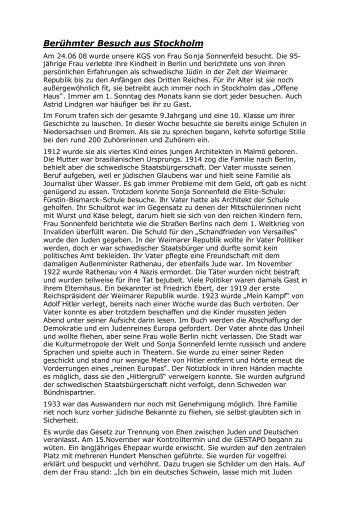 Bericht von Raik Pohl, 9b - KGS Tarmstedt