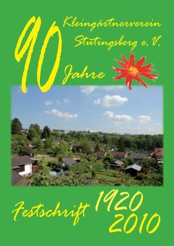 Festschrift - Inhalt - Kgv-stuetingsberg.de
