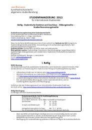 Information Studienfinanzierung 2013 für intern. Studierende