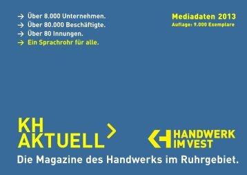 Mediadaten 2013 - Kreishandwerkerschaft Emscher-Lippe-West