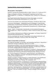 Nausikaa Schirilla - Auszug aus den Publikationen: Monographien ...