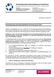 Informationen - Kreishandwerkerschaft Gelnhausen