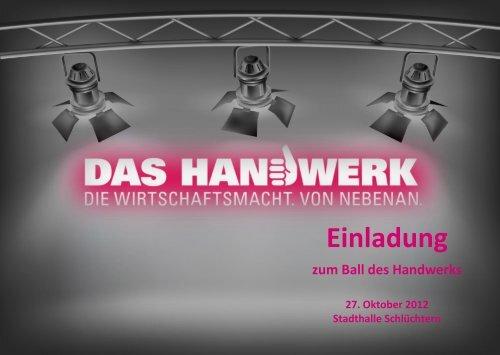 Einladung zum Ball des Handwerks - Kreishandwerkerschaft ...