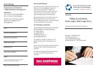 Flyer Kundenorientierter Schriftverkehr - Kreishandwerkerschaft ...