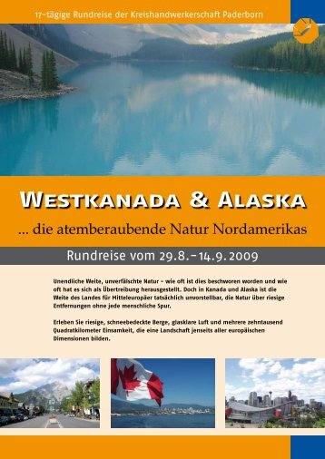 Westkanada & Alaska - Kreishandwerkerschaft Paderborn