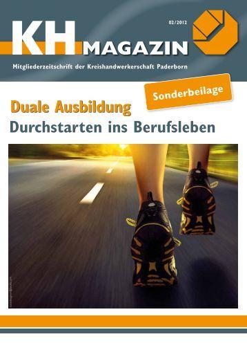 Duale Ausbildung MAGAZIN KH - Kreishandwerkerschaft Paderborn