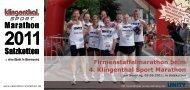 Firmenstaffelmarathon beim 4. Klingenthal Sport Marathon