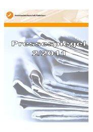 Pressespiegel 2.Quartal 2011 - Kreishandwerkerschaft Paderborn