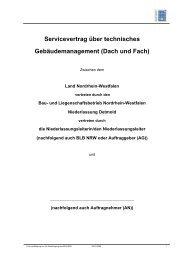 Servicevertrag über technisches Gebäudemanagement (Dach und ...