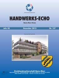 Handwerks-Echo Nr. 157 - Kreishandwerkerschaft Rems-Murr