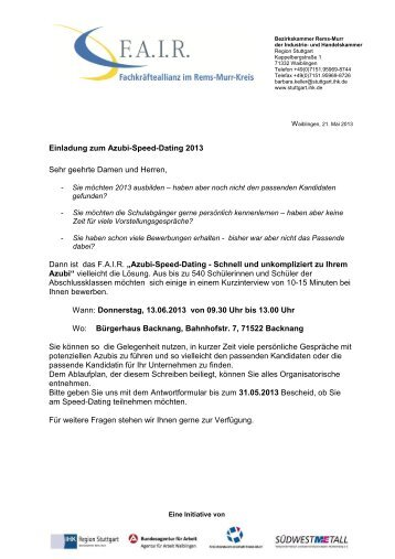 azubi speed dating 2013 münchen