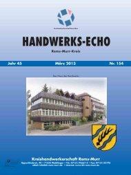 Handwerks-Echo Nr. 154 - Kreishandwerkerschaft Rems-Murr