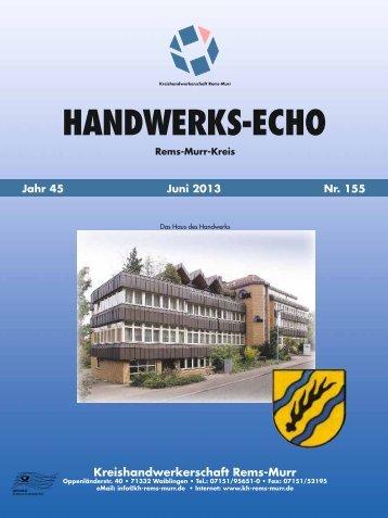 Handwerks-Echo Nr. 155 - Kreishandwerkerschaft Rems-Murr