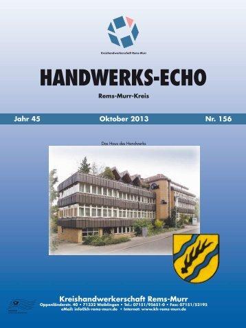 Handwerks-Echo Nr. 156 - Kreishandwerkerschaft Rems-Murr