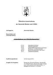 Öffentliche Ausschreibung der Gemeinde Wenden nach VOB/A ...