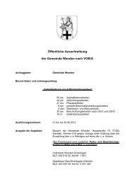 Öffentliche Ausschreibung der Gemeinde Wenden nach VOB/A