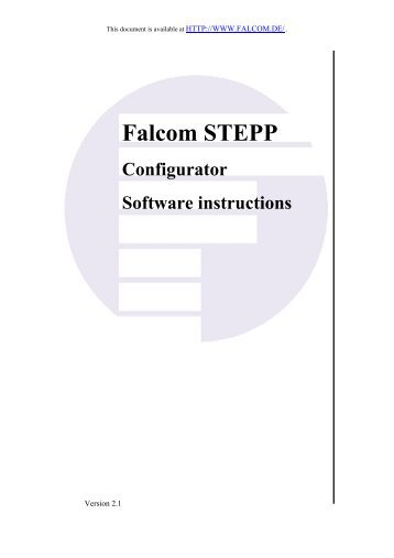 Falcom STEPP Configurator Software instructions
