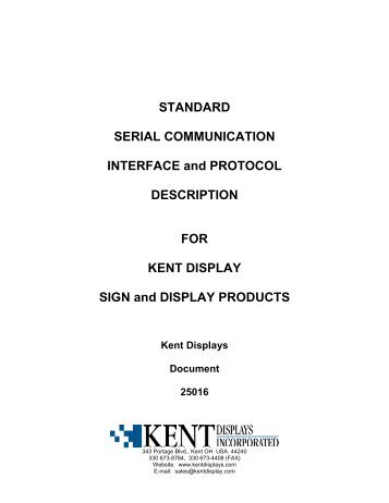 STANDARD SERIAL COMMUNICATION INTERFACE and ...