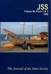 The Journal of the Siam Society Vol. LXXXVI, Part 1-2 ... - Khamkoo
