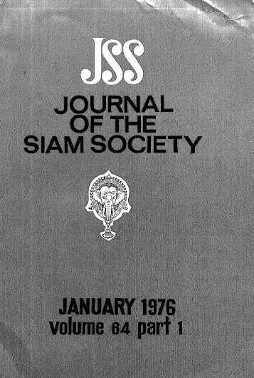 The Journal of the Siam Society Vol. LXIV, Part 1-2, 1976 - Khamkoo