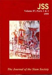 The Journal of the Siam Society Vol. LXXXVII, Part 1-2 ... - Khamkoo