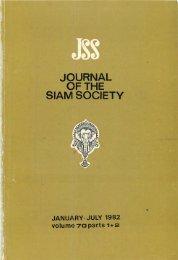 The Journal of the Siam Society Vol. LXX, Part 1-2, 1982 - Khamkoo