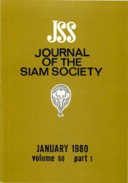 The Journal of the Siam Society Vol. LXVIII, Part 1-2, 1980 - Khamkoo