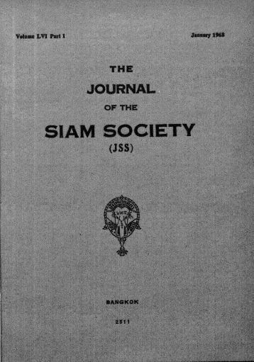 The Journal of the Siam Society Vol. LVI, Part 1-2, 1968 - Khamkoo